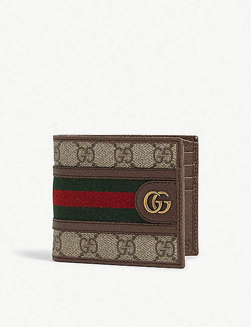 GUCCI: Ophidia canvas bifold wallet