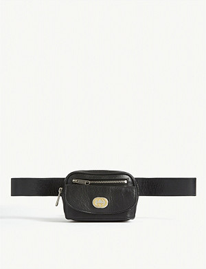 GUCCI Morpheus leather belt bag