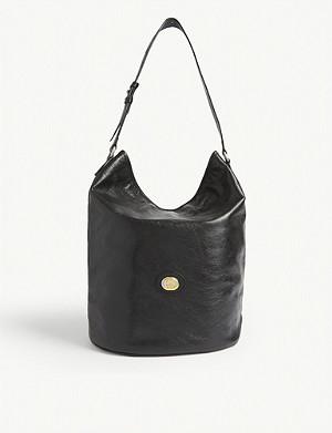 GUCCI Morpheus GG logo leather hobo bag