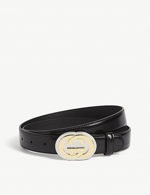 GUCCI Morpheus GG leather belt