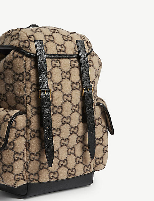 GUCCI GG Jacquard wool backpack