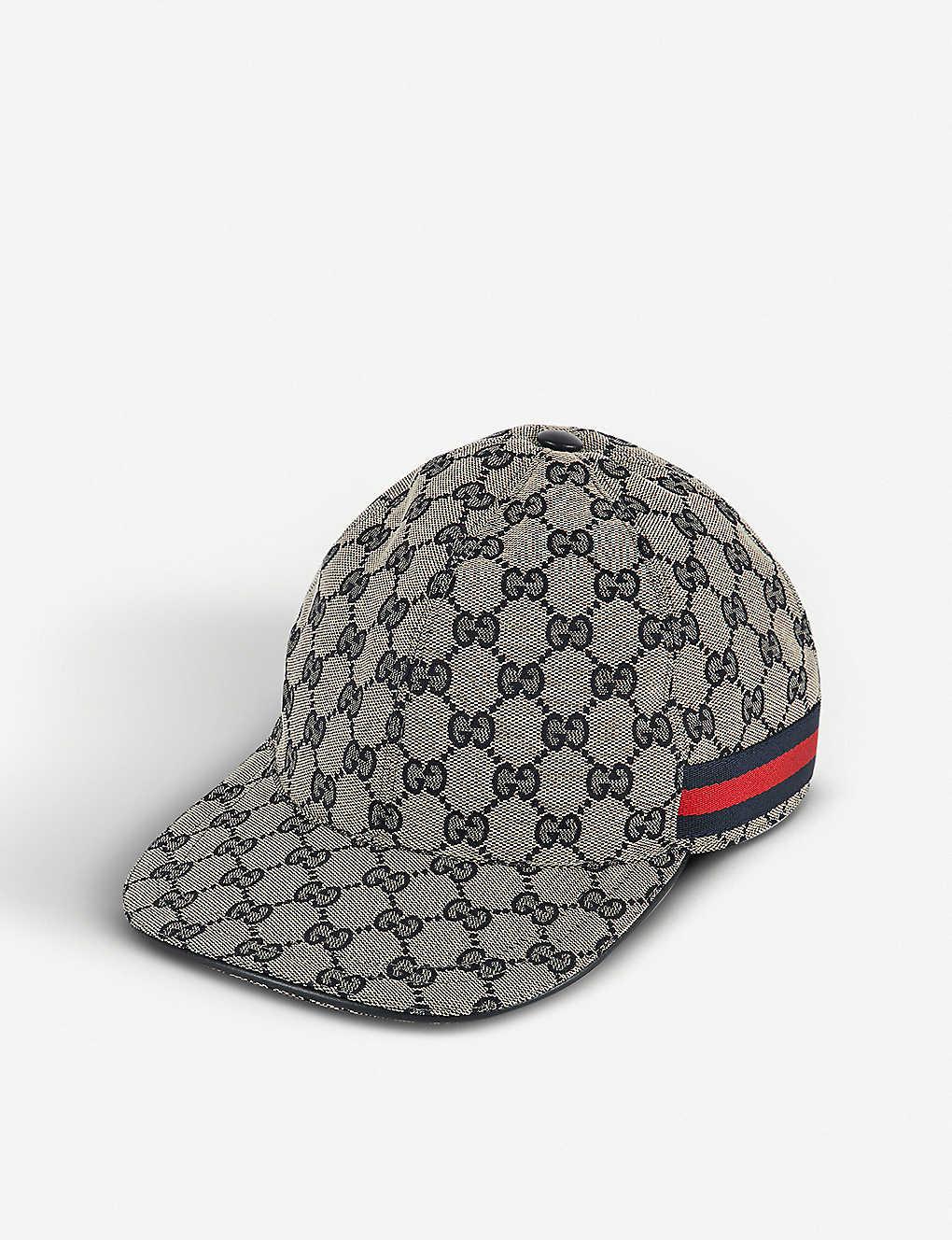 6a9219f737a GUCCI - GG Web stripe baseball cap