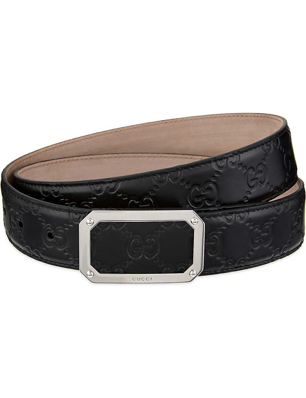 0669b5979 GUCCI - GG leather belt | Selfridges.com