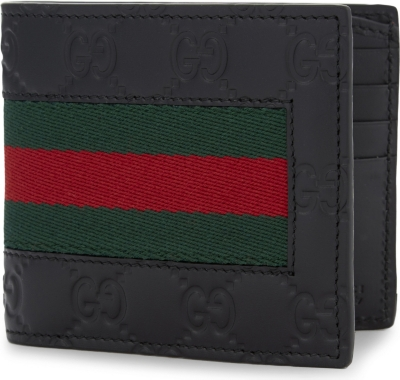 GUCCI Logo leather billfold wallet