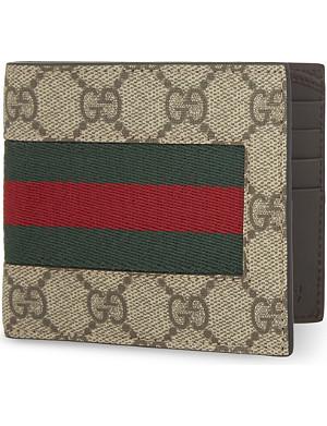 8b098531f275 GUCCI - Web GG supreme billfold wallet