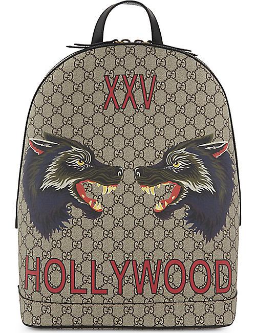 babecc5ae3 GUCCI - Bestiary wolf GG Supreme backpack | Selfridges.com