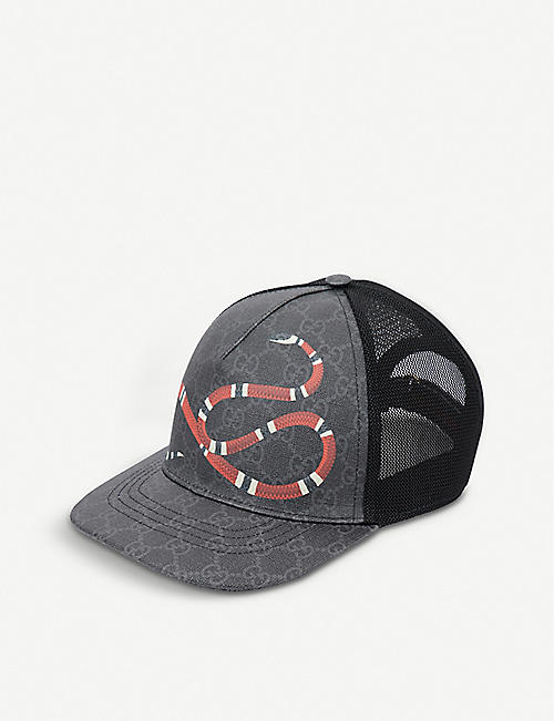 GUCCI Kingsnake GG Supreme canvas and mesh baseball cap dd948cf8807