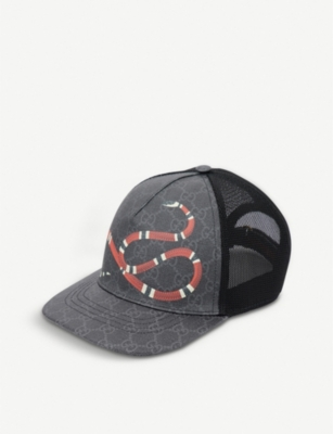 GUCCI Kingsnake GG Supreme canvas and mesh baseball cap