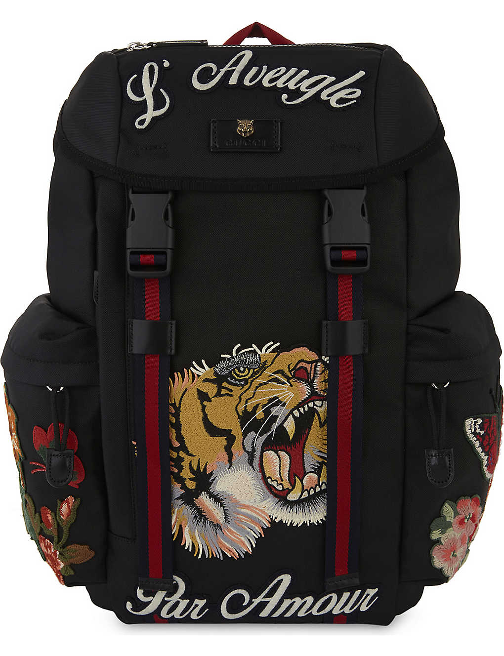 GUCCI - Tiger embroidered backpack