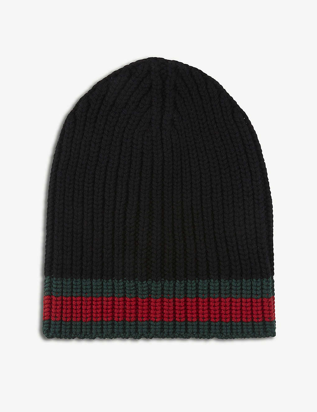 220457de310 ... Striped knitted wool beanie zoom ...