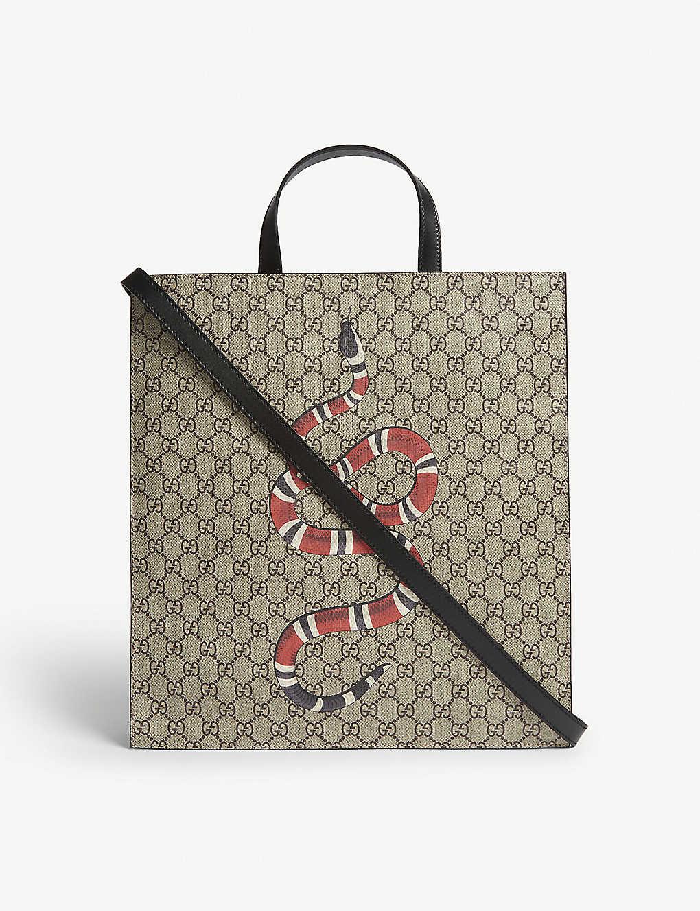 b0d5d7242bbb6b GUCCI - Kingsnake soft GG supreme tote bag | Selfridges.com