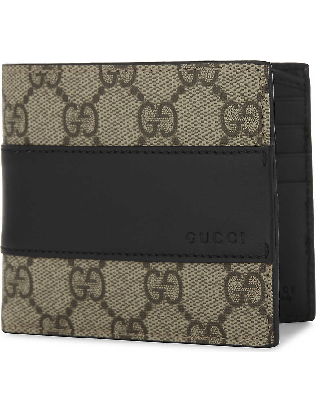 c899cab8c02384 GUCCI - Eden Supreme canvas and leather wallet | Selfridges.com