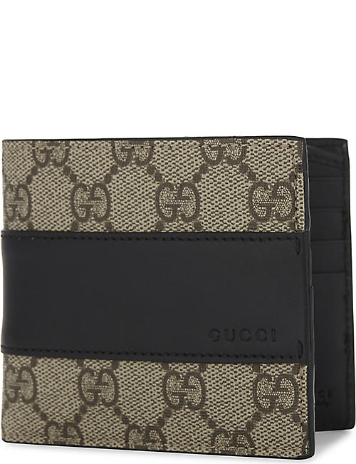 a9029a98359b GUCCI Eden Supreme canvas and leather wallet