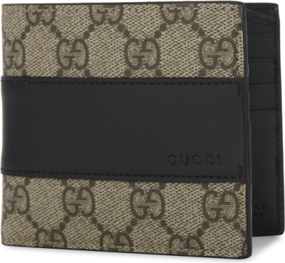 GUCCI Eden Supreme canvas and leather wallet