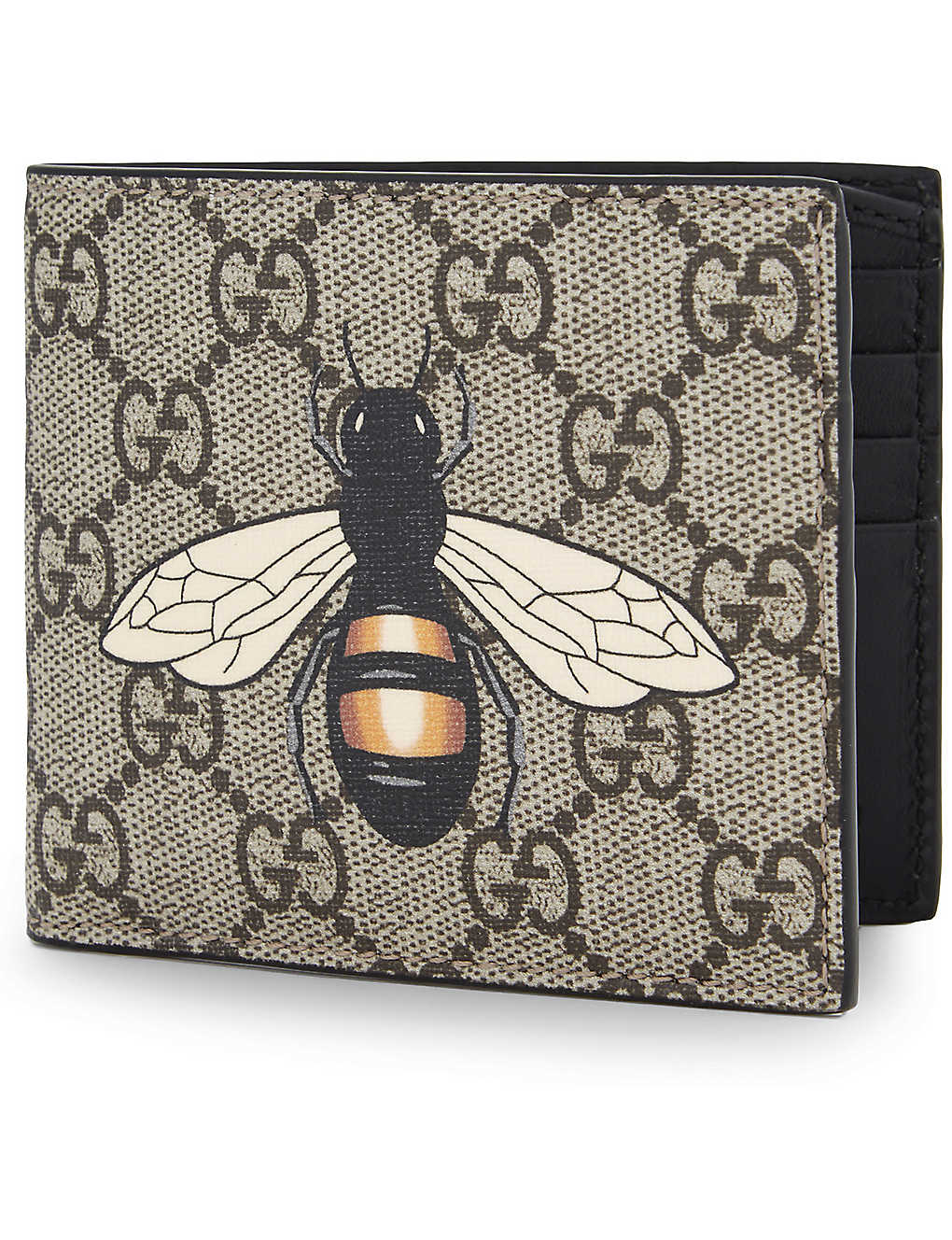 54045f231 GUCCI - Supreme bee leather billfold wallet | Selfridges.com