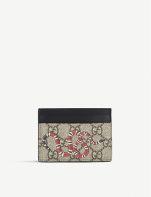 GUCCI Bestiary leather card holder
