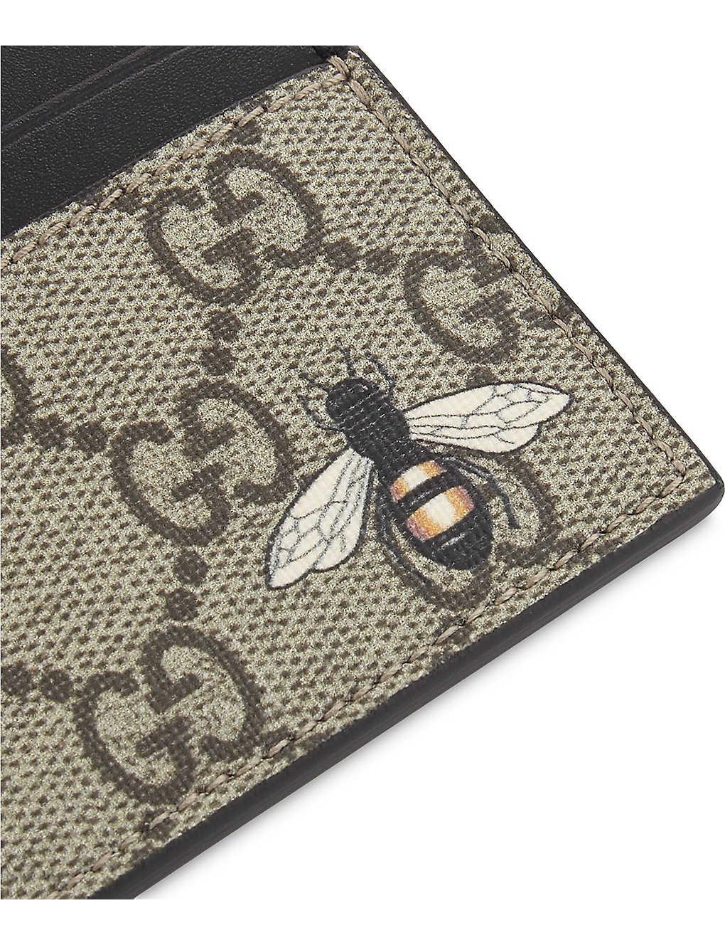 211520cbef7 GUCCI - Bestiary GG Supreme card holder
