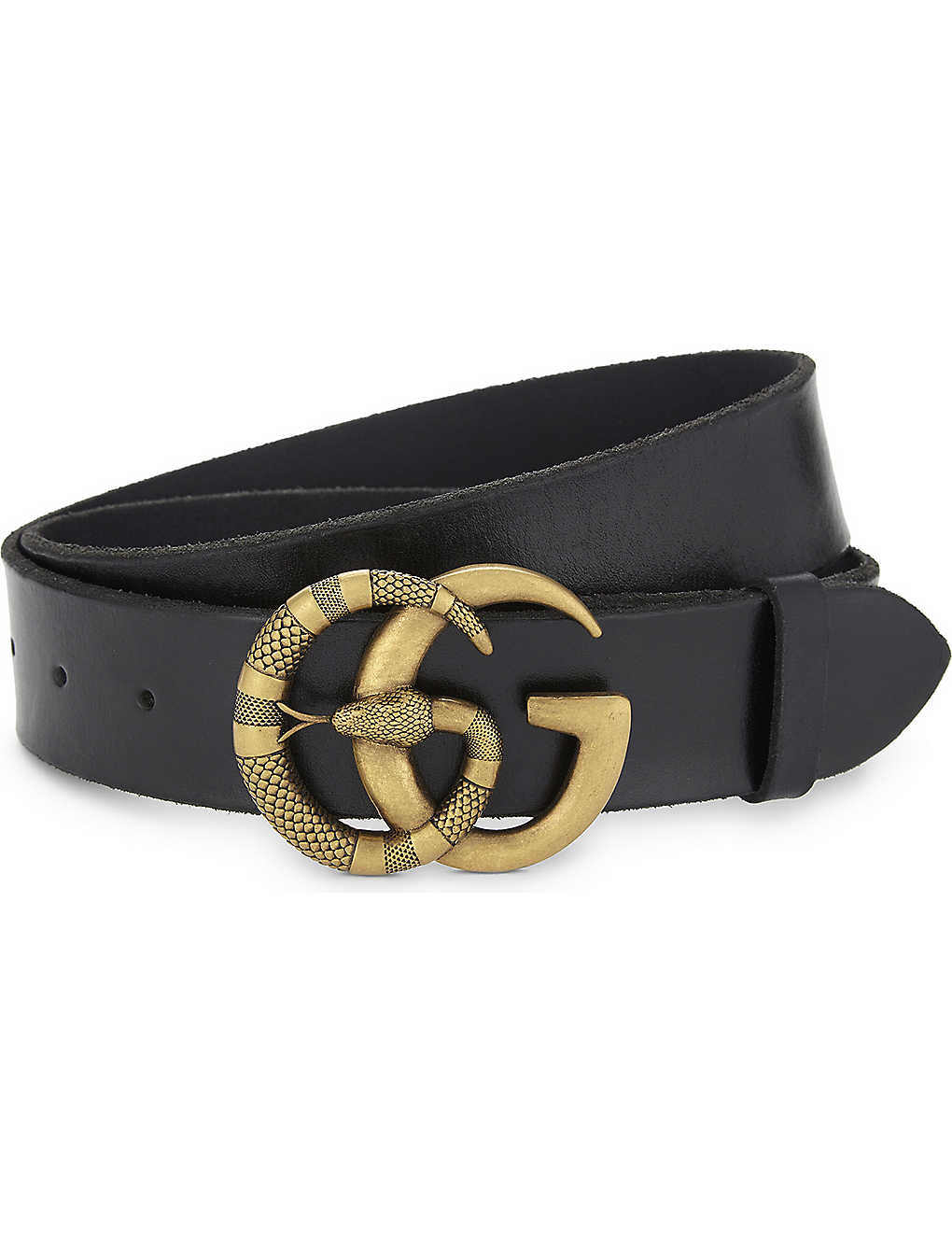 73681490ce6 ... Snake GG buckle leather belt zoom ...