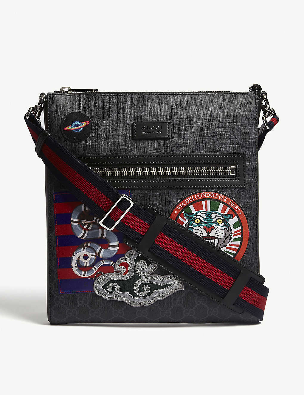 cf300ee0b1a GUCCI - GG Supreme patches messenger bag