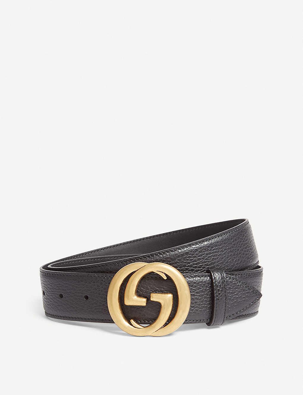 c92d1a98cdd GUCCI - Interlocking GG leather belt