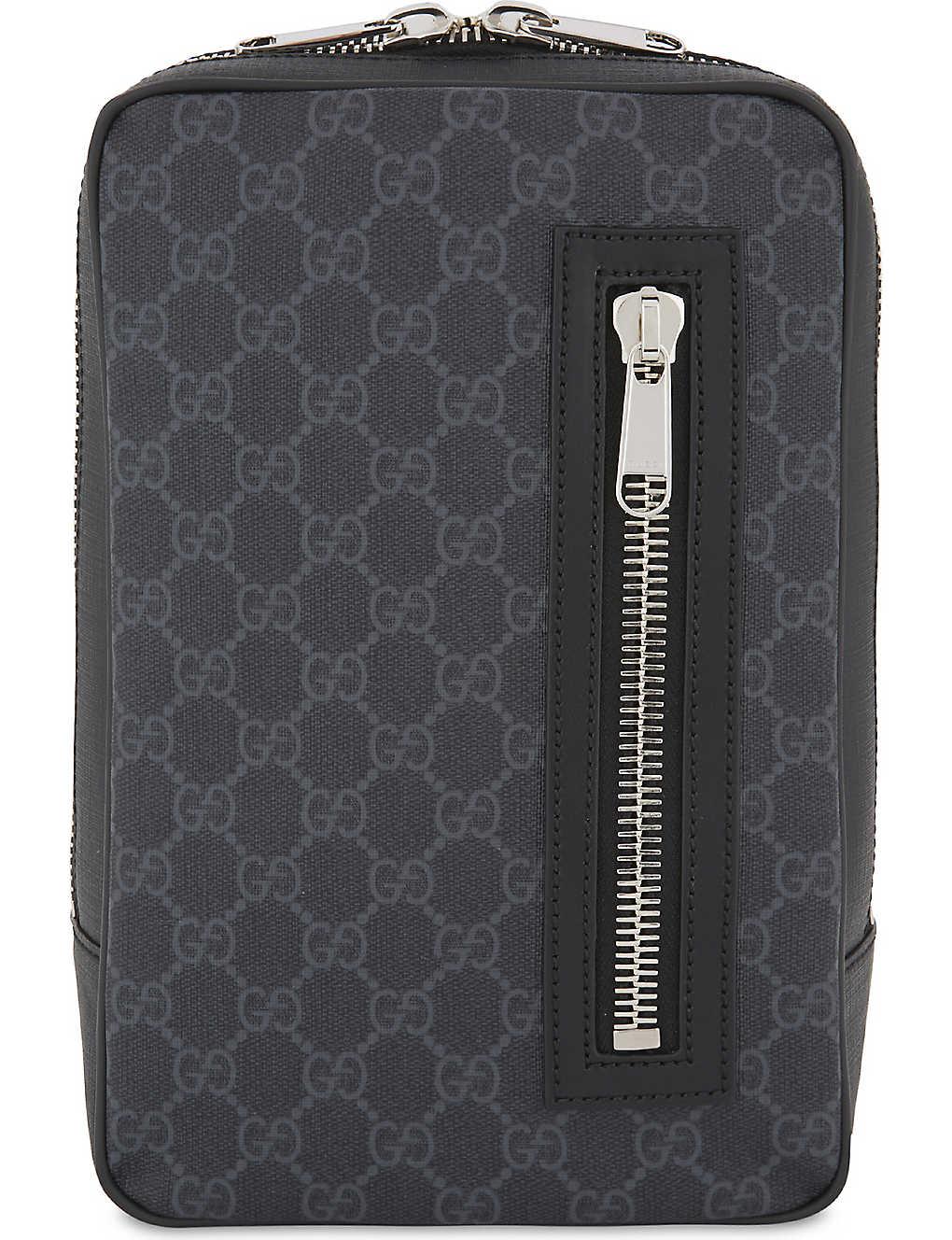 aec1b709646f GUCCI - Web stripe Supreme GG canvas belt bag | Selfridges.com