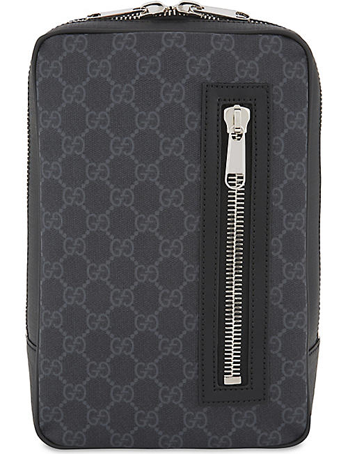 0286bbbc000 GUCCI Web stripe Supreme GG canvas belt bag