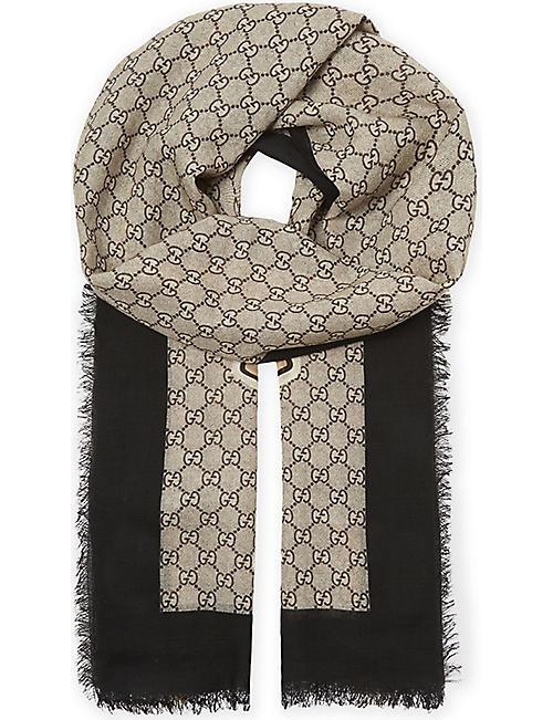 919bcc52 GUCCI - Bee wool scarf | Selfridges.com