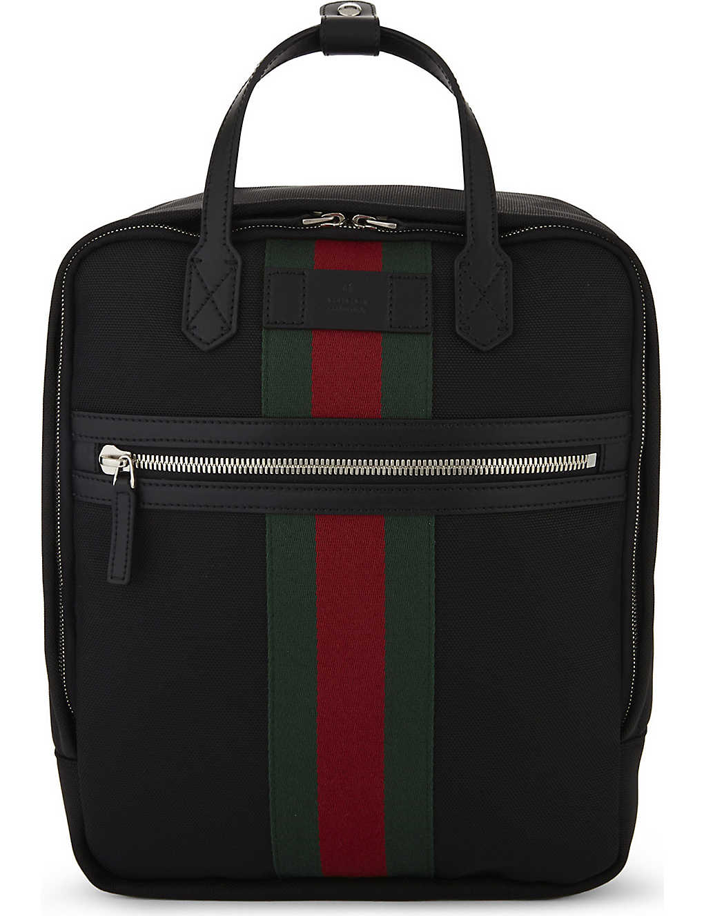 64587ae2382c GUCCI - Web stripe techno canvas backpack | Selfridges.com