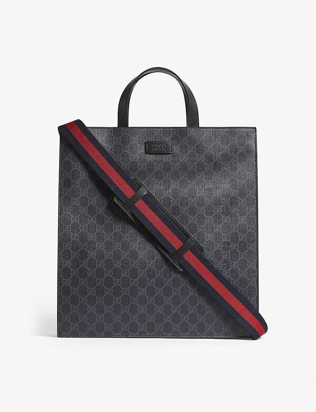 Gg Supreme Canvas Tote Bag Black