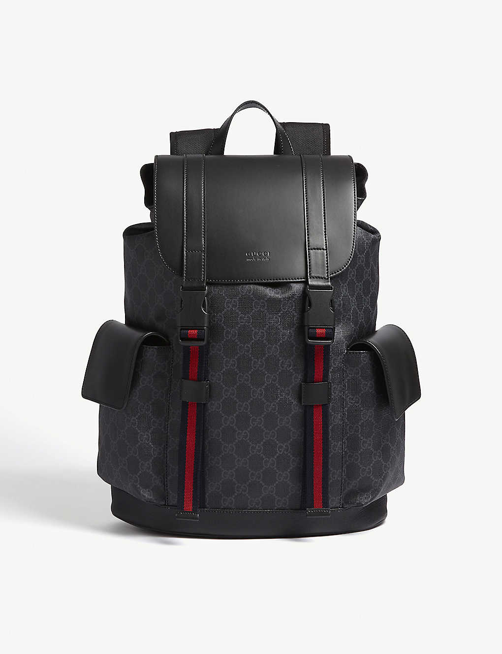 a6d10992a594 GUCCI - GG Supreme and leather backpack | Selfridges.com