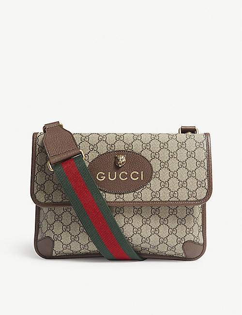 f43a8b6be86a GUCCI Vintage Supreme canvas shoulder bag