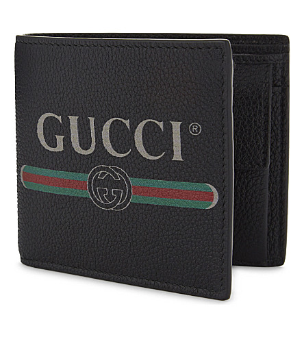 3cdb5716907 GUCCI - Logo grained leather wallet