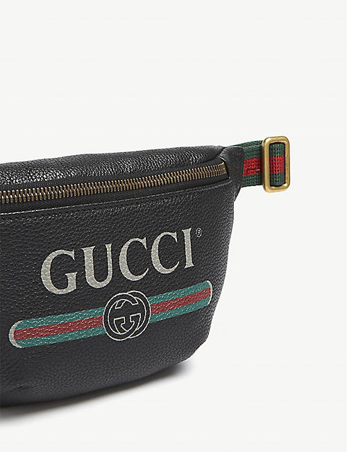 GUCCI Vintage logo small leather belt bag