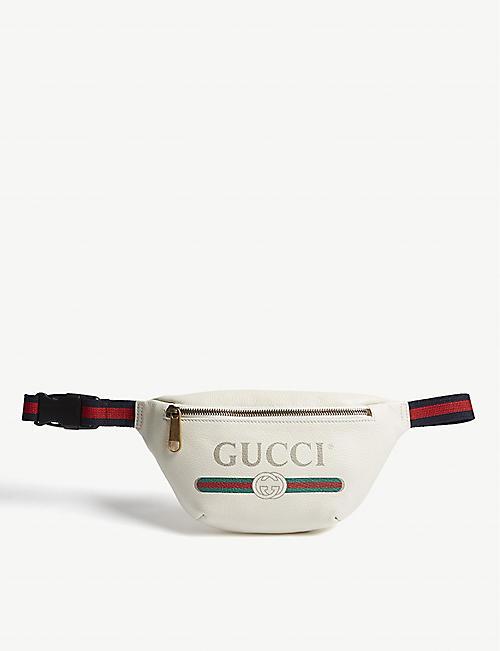 f4d455d05a4 GUCCI Vintage logo small leather belt bag