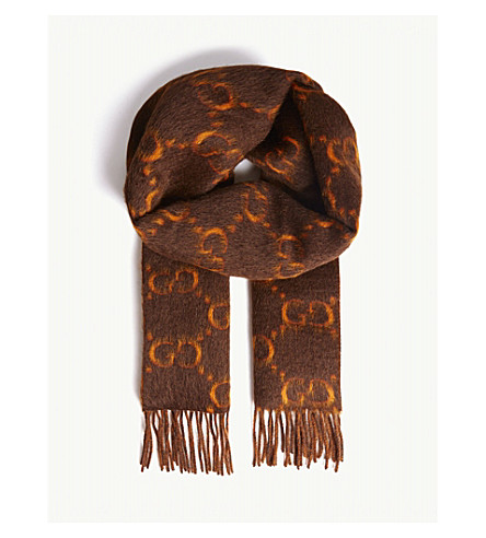 GUCCI - GG alpaca wool scarf  19f29787bba