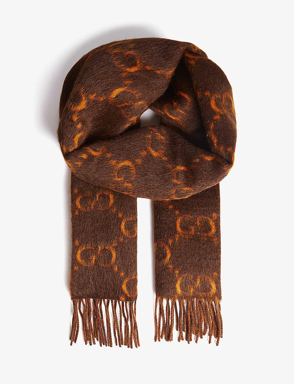 4b20fdc644 GUCCI - GG alpaca wool scarf | Selfridges.com