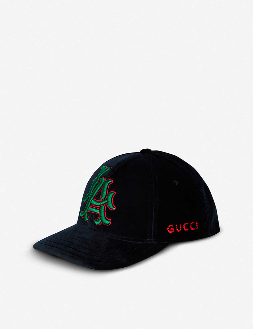e582bd86 GUCCI - Los Angeles Angels™ velvet cap | Selfridges.com