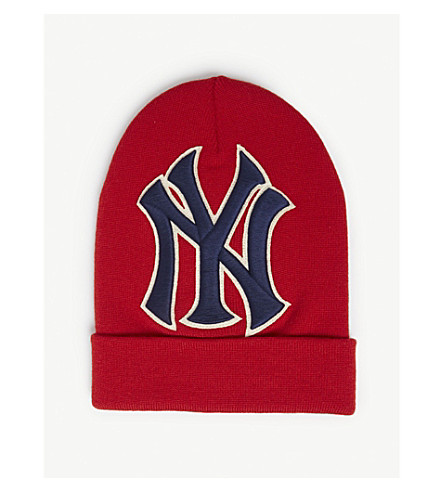 72480513fd2 ... GUCCI New York Yankees wool beanie (Red. PreviousNext