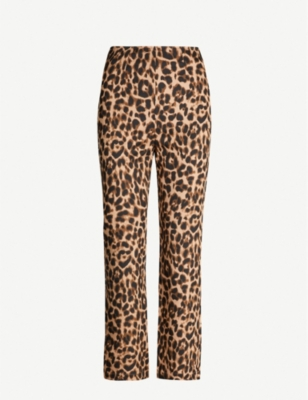 Marlon leopard-print stretch-twill trousers - LEOPARD
