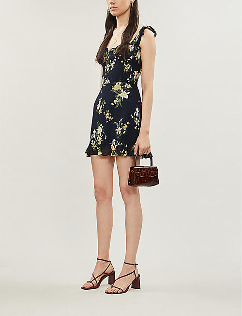 REFORMATION Christine floral-print crepe mini dress