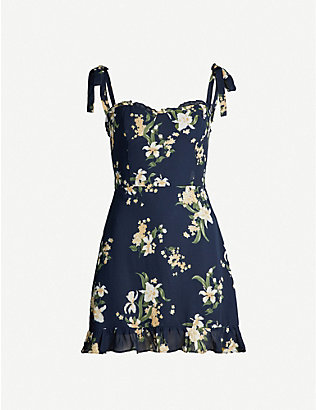 REFORMATION: Christine floral-print crepe mini dress