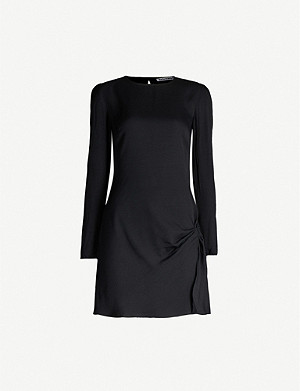 REFORMATION Cara gathered crepe mini dress