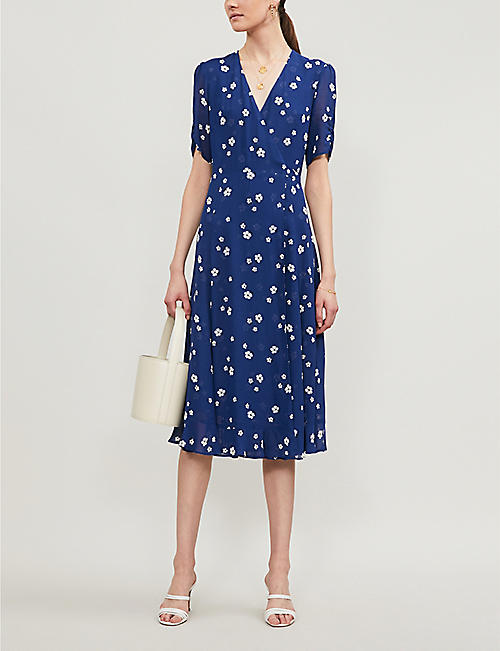 REFORMATION Napa floral-print crepe midi dress