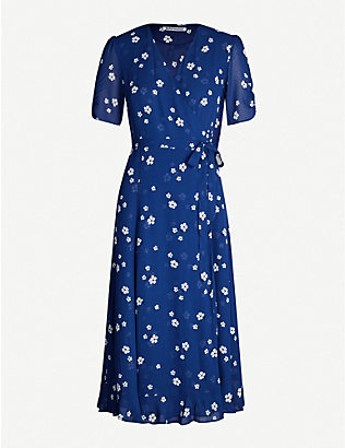 REFORMATION: Napa floral-print crepe midi dress