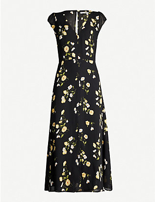 REFORMATION: Wellfleet floral-print crepe midi dress