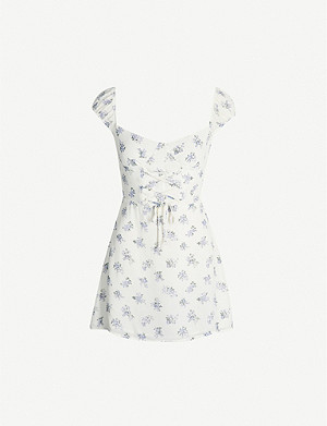 REFORMATION Jess floral-print crepe mini dress