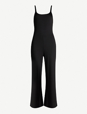 REFORMATION Rylee cropped stretch-jersey jumpsuit