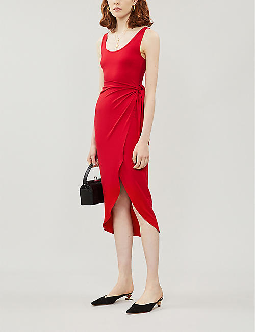REFORMATION Kaila wrapover stretch-jersey midi dress