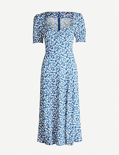 REFORMATION Lacey floral-print crepe midi dress