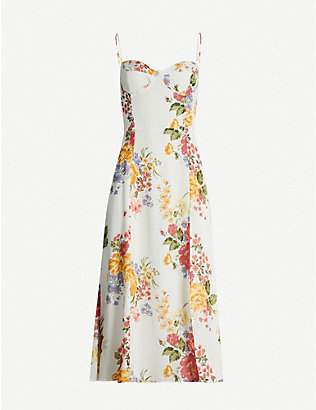 REFORMATION: Juliette floral-print crepe midi dress